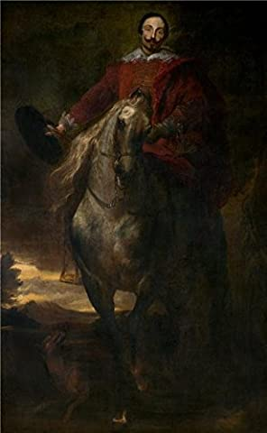 High Quality Polyster Canvas ,the High Definition Art Decorative Prints On Canvas Of Oil Painting 'Equestrian Portrait Of The Painter Cornelis De Wael By Anthony Van Dyck', 12x19 Inch / 30x49 Cm Is Best For Kitchen Gallery Art And Home Decoration And - Alfred Gockel Flowers