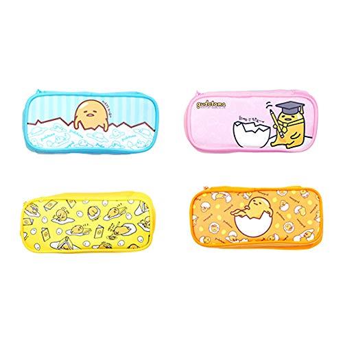 (Sanrio Gudetama Lazy Egg Round Pencil Case Multi-Purpose Pouch 1pc (Orange))