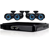 Night Owl Security B-AZ4-4HD7-1 4-Channel Smart HD Video Security System with 720p HD Cameras (Black)