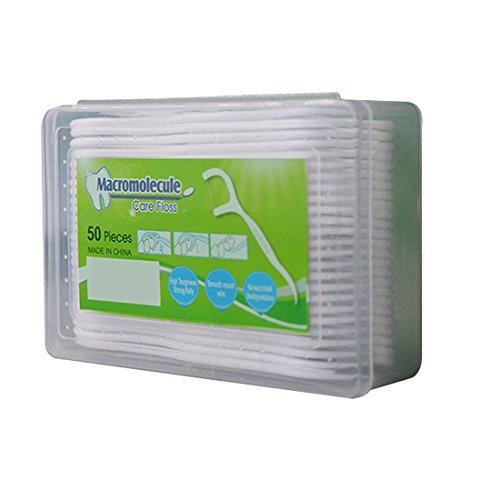 Sweetg Ultra Silky Floss Picks,Portable Dental Floss Toothpicks Teeth Sticks - 300 Flossers(6 Pack-50 Root Per Pack) (6 pack)