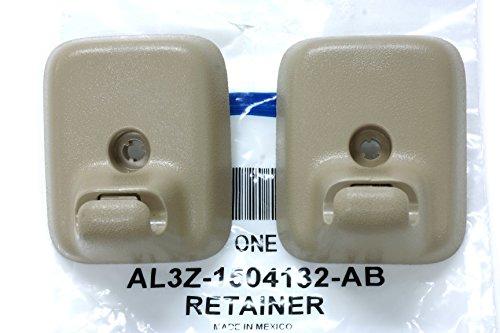 2009-2014 Ford F-150 Sun Visor Holder Clip Retainers Camel Tan OEM AL3Z1504132AB (2009 Sun Visor)