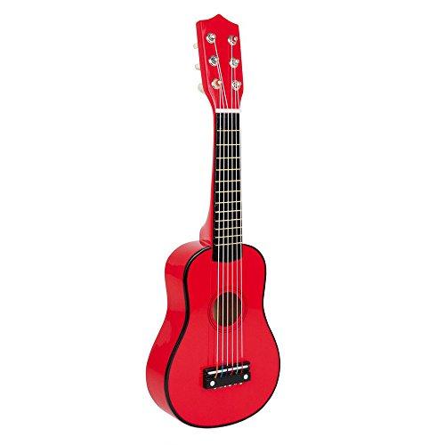 Small Foot by Legler Gitarre für Kinder ab 3 Jahren, sechs Saiten und ein Plektron, im knalligen Design für den ganz großen Musizier-Spaß!