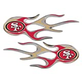 San Francisco 49ers NFL Micro Flames Auto Decal 2 Pack for Car Truck Motorcycle Bike Mailbox Locker Sticker Football Licensed Team Logo