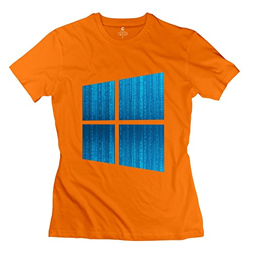 New Arrival Microsoft Windows Win 10 Interface Women's Tee Orange Size - Instagram Arrivals The