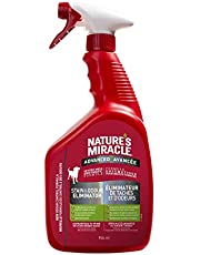 Nature's Miracle Advanced Stain & Odor Remover Just for Dogs, Pet Stain Eliminator, 946mL (Spray Bottle)