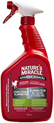 Nature's Miracle Advanced Stain & Odor Remover Just for Dogs, Pet Stain Eliminator, 946mL (Spray