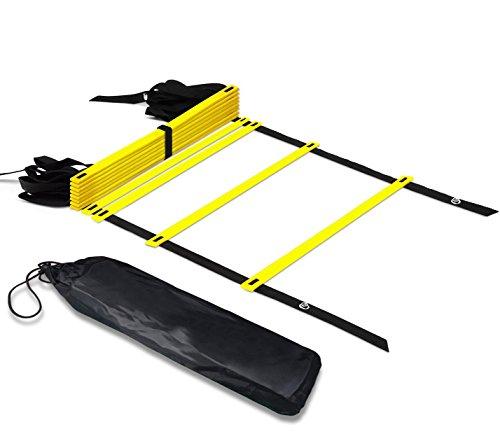 Speed Training Agility Ladder BONUS Black Carry Case