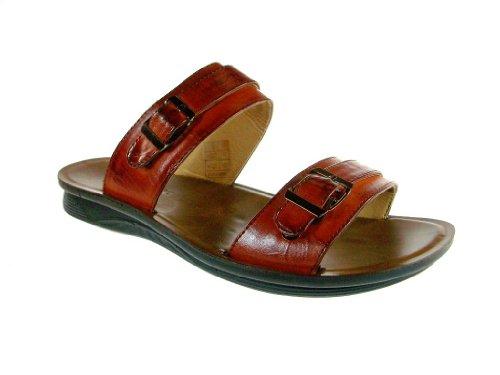 Majestic Mens 28523 Classic Slip on Sandals Tan