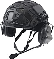 Fast Helmet Set, with Tactical Headset and Helmet Cover, for Airsoft Paintball Outdoor Hunting