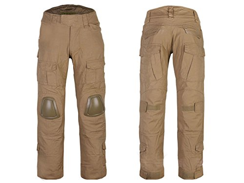 ATAIRSOFT Tactical Military Emerson BDU Hunting Gen2 G2 Men Combat Pants With Knee Pads CB (S-30W)