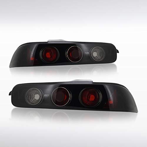 Autozensation For Acura Integra DC2 2Dr 3Dr JDM Glossy Black Altezza Tail Lights Pair (Lights Jdm 2dr Corner Black)