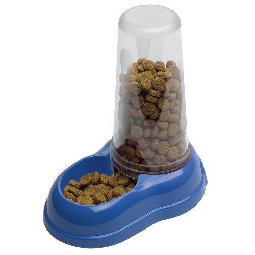 Ferplast 71969099W2 Futter- und Wasserspender AZIMUT 1500, für Katzen und Hunde, Maße: 16,5 x 25 x 24,5 cm, 1,5 Liter, blau