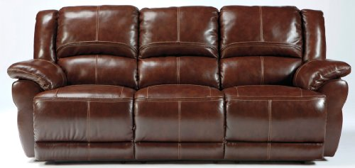 Ashley lenoris collection u9890187 89 reclining sofa with for Ashley encore grain chaise