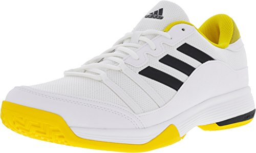 Adidas Performance Mænds Domstol 2 Tennissko Barrikade Hvid / Gul / Sort cfZ7StCE