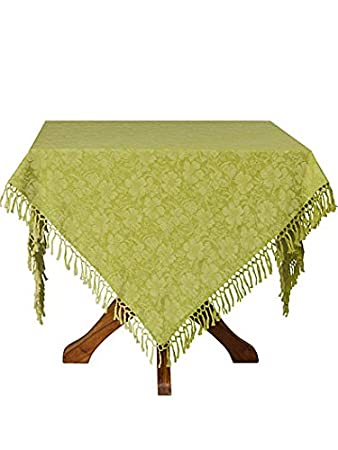 Ordinaire April Cornell Peony Jacquard Green 60 X 108 Tablecloth
