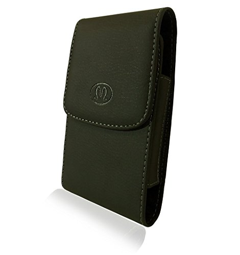 Vertical Leather Belt Clip Case Cover Pouch Holster for Samsung Galaxy Note 3 Note III Note3 * Fits with Mophie Juice Pack