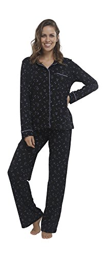 Luxury Pima Classic Knit Shirt (jijamas Incredibly Soft Pima Cotton Women's Pajama SetThe Classic In Black)
