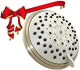 cool shower heads for sale Vida Alegria 5-Inch Spashower High Pressure Shower Head; 2.5 gpm, 5 Sprays + Water-Saver (Brushed Nickel)