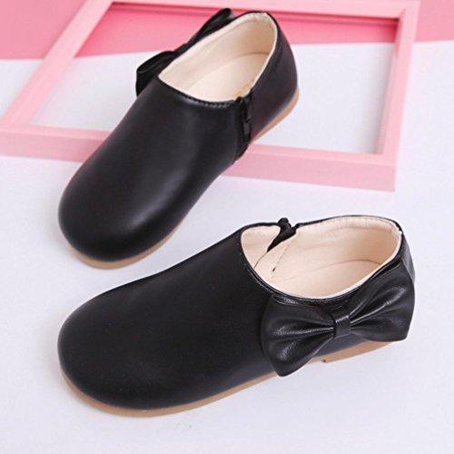 Clode® Kleinkind Baby Mädchen Kinder Mode Bowknot Sneaker Stiefel Reißverschluss Freizeitschuhe Schwarz