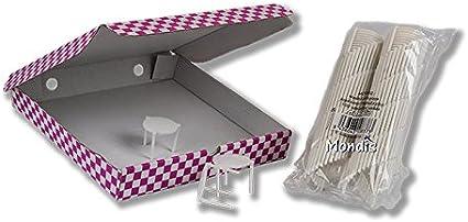 MESITA/Soporte/Mesa para Caja DE Pizza - 1000 UDS.: Amazon.es: Hogar
