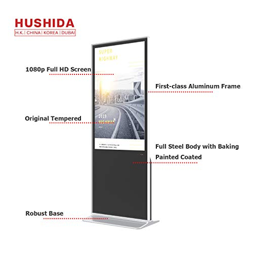 (HUSHIDA 49-inch Interactive Digital Signage LCD Plane 1080p Floor Standing Kiosk 4k Full HD with 10-Point Infrared Touch Screen for Display Monitor )