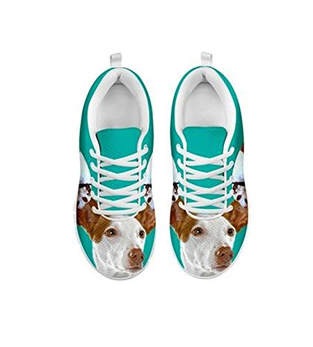Cute Ibizan Casual Hound Dog Print Shoes Women's Running 11drwzq