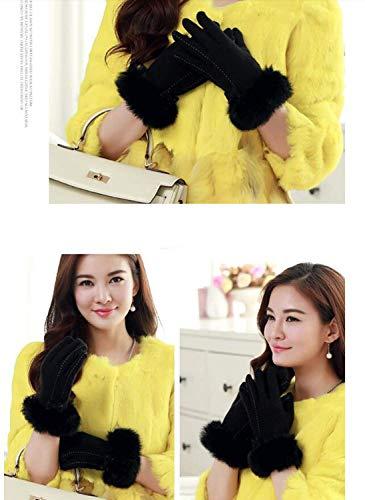 Cute Finger Mittens Thickened All La Nero Korean Warm Gloves Signora Adelina Winter Elegante wSTIwq