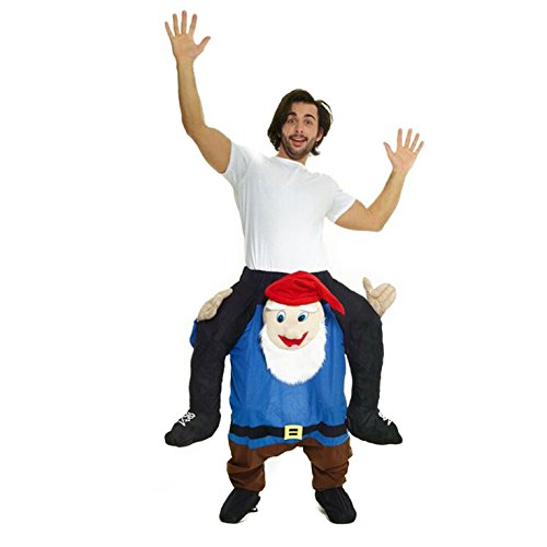 [Morphsuits Men's Piggyback Costume Adult, Gnome, One Size] (Gnome Costume Mens)