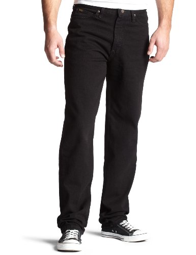 Lee Men's Regular Fit Straight Leg Jean, Double Black, 40W x