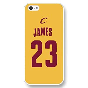 UniqueBox - Customized Personalized White Hard Plastic iPhone 5C Case, NBA Superstar Cleveland Cavaliers Lebron James iPhone 5C case, Only Fit iPhone 5C Case