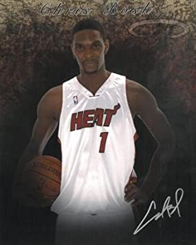 5eca4b91338 Signed Chris Bosh Photo - 8x10#1 silver sig) - Autographed NBA Photos at Amazon's  Sports Collectibles Store