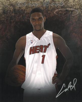 Signed Chris Bosh Photo - 8x10#1 silver sig) - Autographed NBA Photos