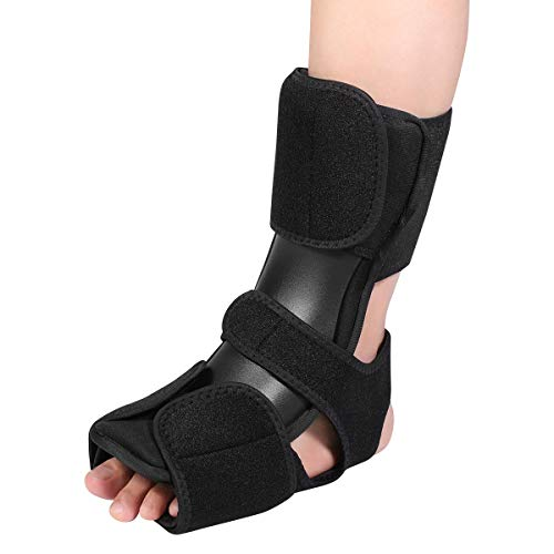 Plantar Fasciitis Night Splint, Foot Support Brace Adjustable Foot Stabilizer, Orthotic Sleeping Immobilizer, Arch Support Ankle Night Brace, for Left and Right Foot Protection,L