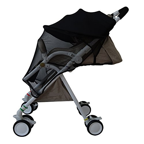 Baby Stroller Mosquito Net,Baby Stroller Sunshade Cover,Canopy Infant Stroller Netting,Breathable Black Jogging Bug Net. by DGou (Image #1)
