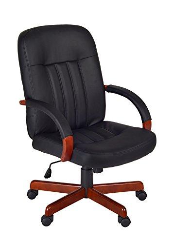 Regency Ethos Swivel Chair, Cherry/Black (Executive Desk Regency)