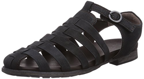 Think SANDE - Sandalias de vestir de cuero para mujer negro - Schwarz (SZ/KOMBI 09)