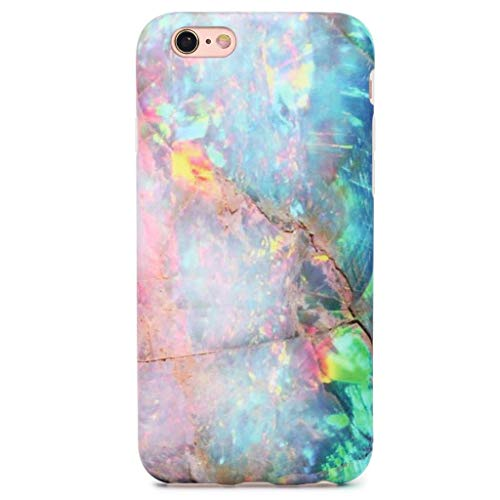 GOLINK iPhone 6/6S Case, Matte IMD Printing Slim-Fit Ultra-Thin Anti-Scratch Shock Proof Dust Proof Anti-Finger Print TPU Gel Case for iPhone 6/iPhone 6S (4.7 inch) - Colorful Marble