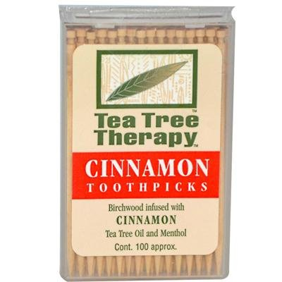 - Cinnamon Tea Tree Toothpicks 100 count By Tea Tree Therapy - 12 Pack