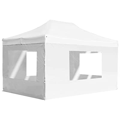 """Professional Folding Party Tent with Walls Aluminium 177.2""""x118.1"""" White: Garden & Outdoor"""