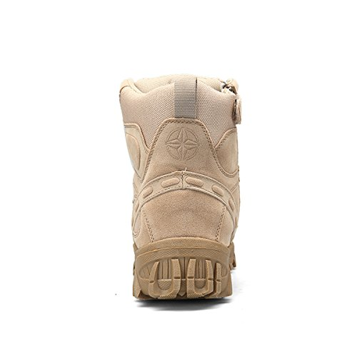 Hommes Militaire Haute Militaire Bottes À Lacets Durable Armée De Combat Chaussures Respirant Tactique Désert Randonnée… 5