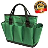 Garden Tote/ Gardening Tool Storage Bag/Garden Tool Bag with with 8 Pockets Oxford for Indoor Outdoor Garden Plant Tool Set Gardening Tools Organizer Tote Lawn Yard Bag Carrier