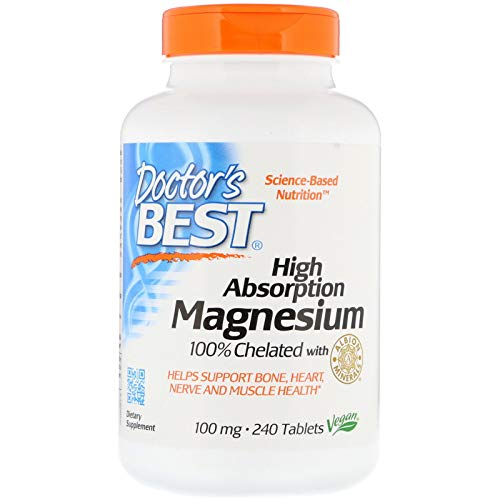 (Doctor's Best, High Absorption Magnesium 100% Chelated with Albion Minerals, 100 mg, 240 Tablets )