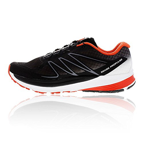 Scarpa Da Running Uomo Salomon Mens Propulse, Nero / Bianco / Lava Orange, Us 9 M