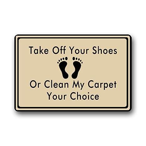 Unique Amazon.com : Take Off Your Shoes Clearance Doormat Door mat  US09