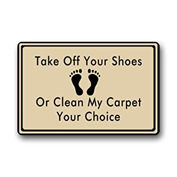 Take Off Your Shoes Clearance Doormat Door mat  sc 1 st  Amazon.com & Amazon.com : Take Off Your Shoes Clearance Doormat Door mat ... pezcame.com
