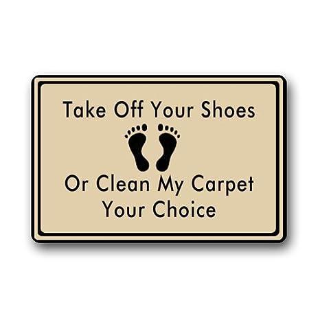 Wonderful Take Off Your Shoes Clearance Doormat Door Mat
