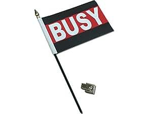 Amazon.com : Busy Desk Flag with Flag Up Flag Down 360