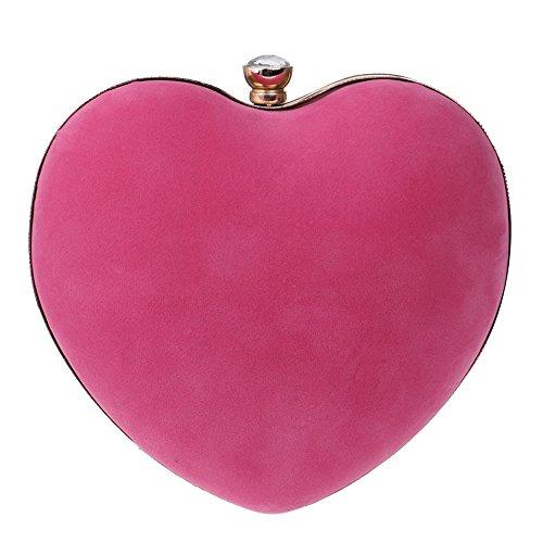 ZAMAC - Cartera de mano para mujer, rosa (Rosa) - ZAMAC-ClutchBag05-pink rosa