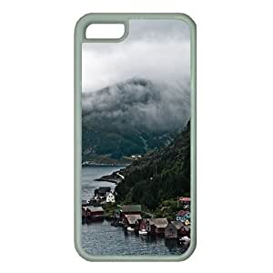 iPhone 5C Case Cover,iCustomonline White Rubber TPU iPhone 5C case for Apple iPhone 5C Designed with Norway by Roman K?nigshofer