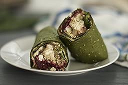 Raw Wraps Kale- Gluten & Soy Free, Vegan & Raw, Paleo (Quinoa Seeds)